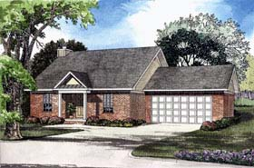 House Plan 62301 with 3 Beds, 2 Baths, 2 Car Garage Elevation