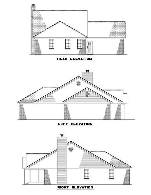 House Plan 62304 Rear Elevation