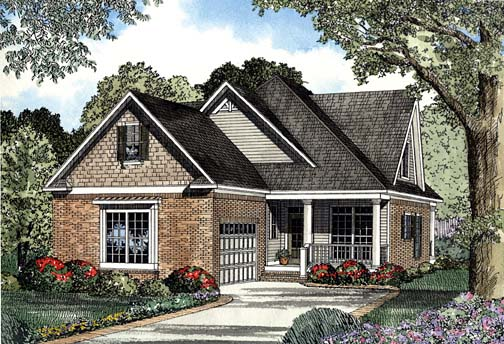 House Plan 62305 with 3 Beds, 3 Baths, 2 Car Garage Elevation