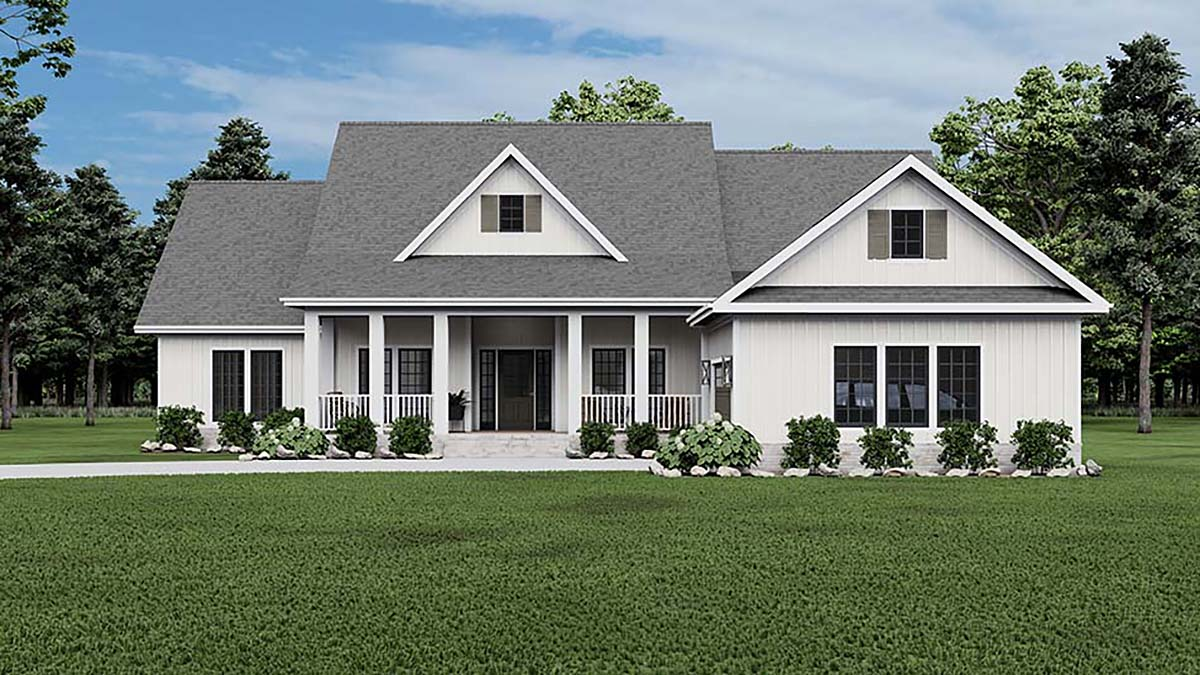 Cape Cod Country Craftsman Traditional House Plan 62306 Elevation