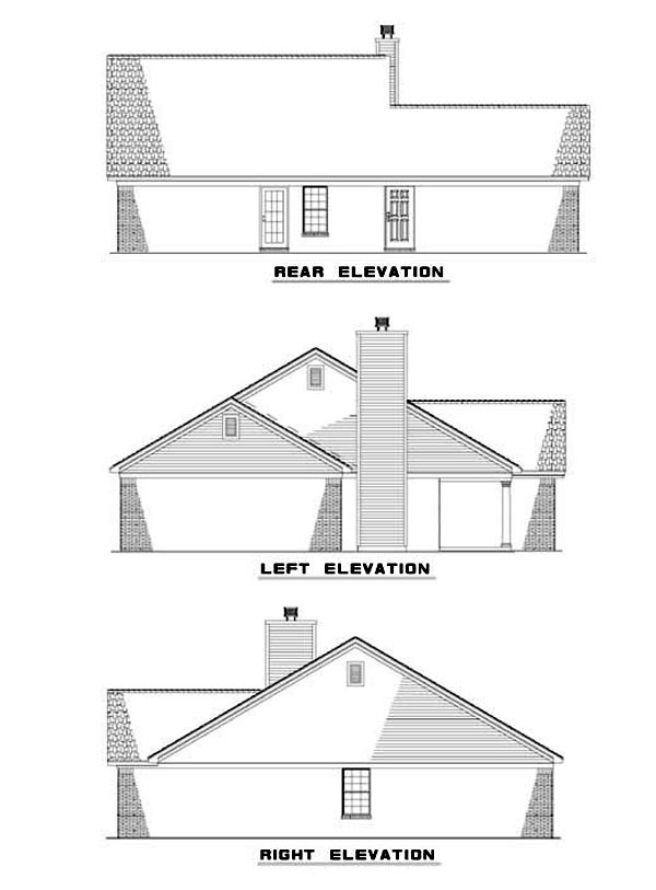 House Plan 62309 Rear Elevation