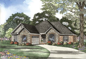 House Plan 62312 Elevation