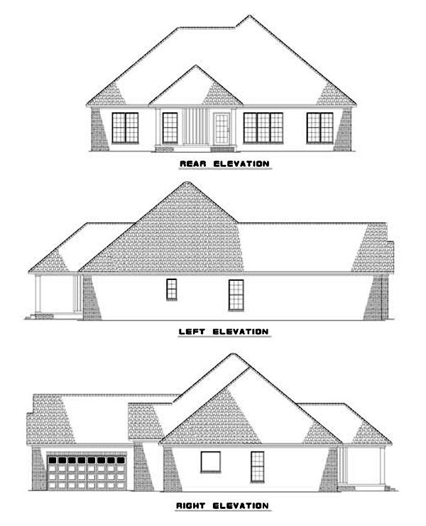 House Plan 62312 Rear Elevation