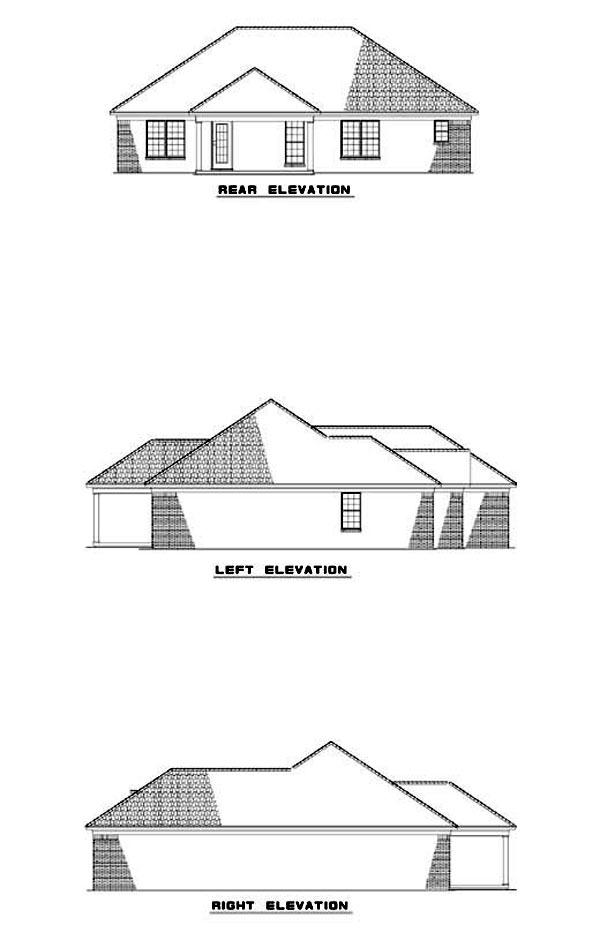 House Plan 62313 Rear Elevation