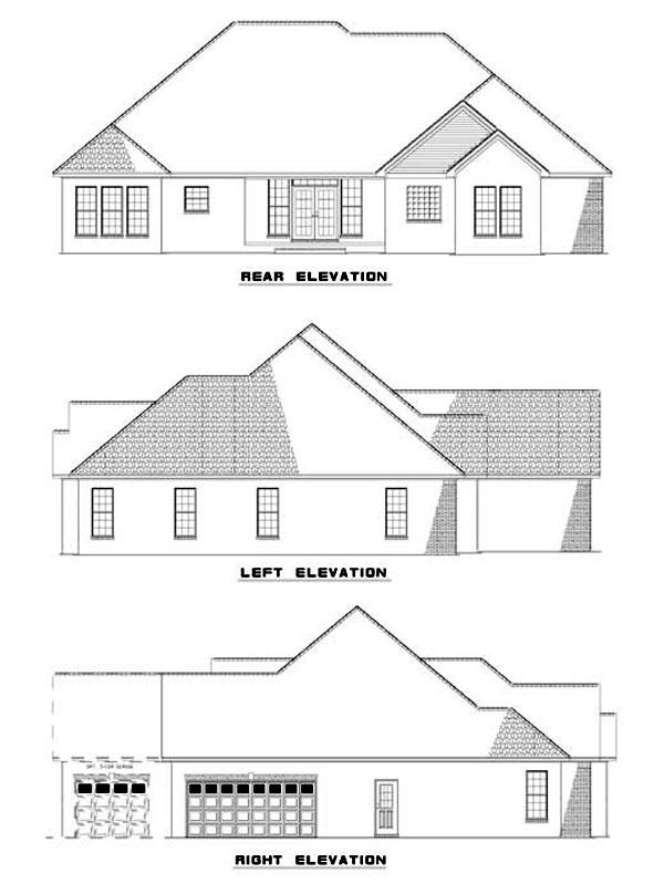 House Plan 62314 Rear Elevation