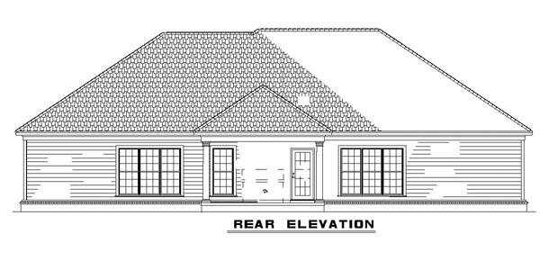 House Plan 62317 Rear Elevation