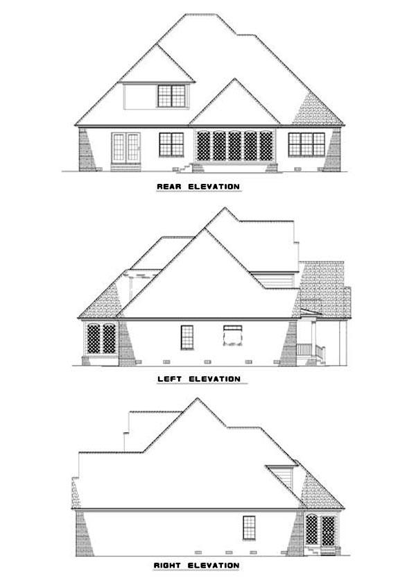 House Plan 62318 Rear Elevation