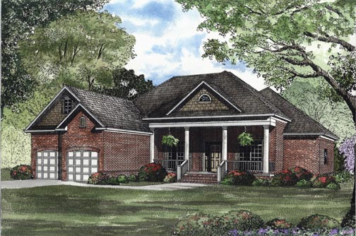 House Plan 62320 with 3 Beds, 2 Baths, 2 Car Garage Elevation