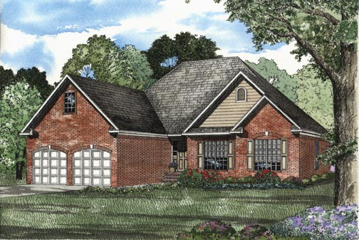 European Traditional House Plan 62321 Elevation
