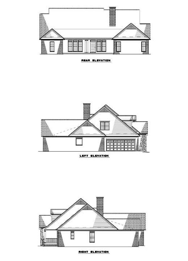 House Plan 62324 Rear Elevation