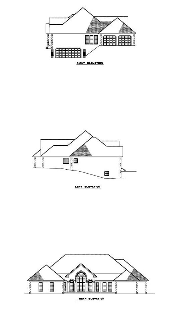 House Plan 62325 Rear Elevation