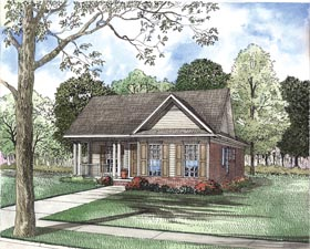 House Plan 62326 with 3 Beds, 2 Baths, 2 Car Garage Elevation