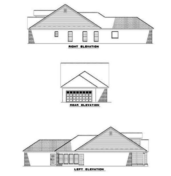 House Plan 62327 Rear Elevation