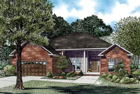 House Plan 62329 | Style Plan with 1786 Sq Ft, 3 Bedrooms, 2 Bathrooms, 2 Car Garage Elevation