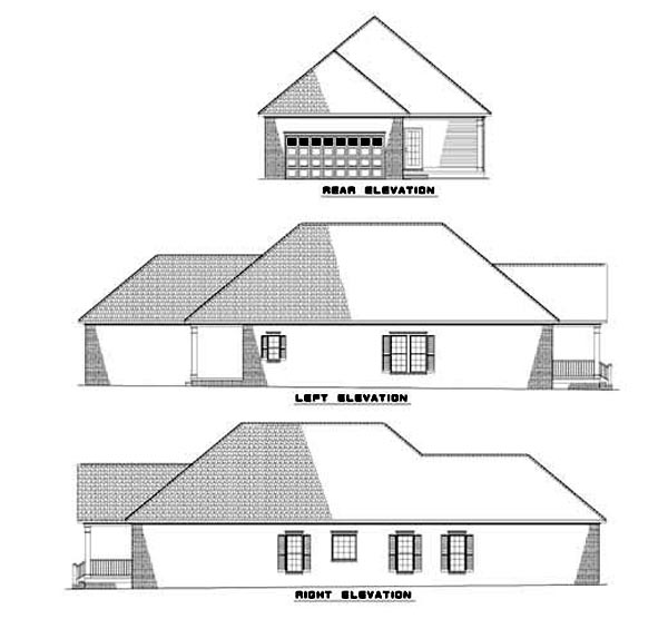 House Plan 62330 Rear Elevation