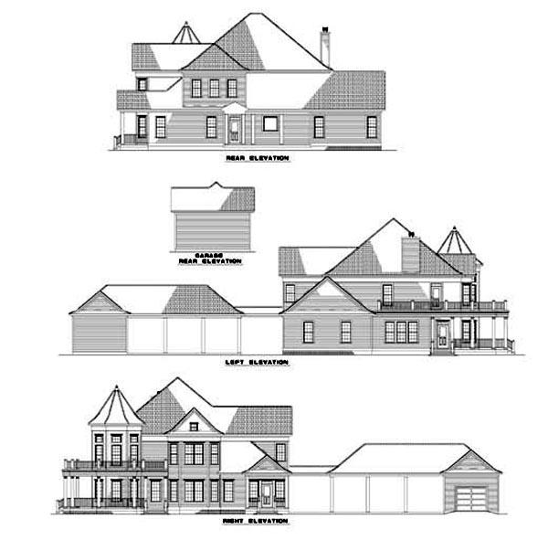 Farmhouse Victorian House Plan 62331 Rear Elevation