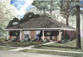 Multi-Family Plan 62332 with 4 Beds, 2 Baths Elevation