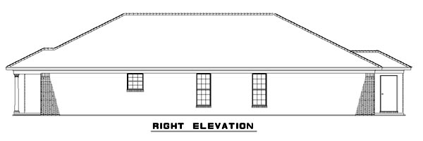Narrow Lot, One-Story Multi-Family Plan 62332 with 4 Beds, 2 Baths Picture 2