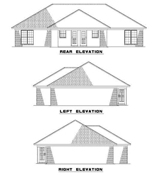 Multi-Family Plan 62336 Rear Elevation