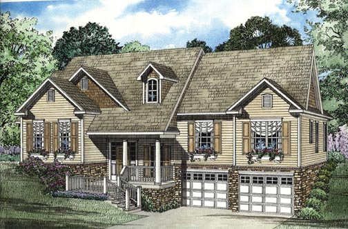 House Plan 62338 Elevation