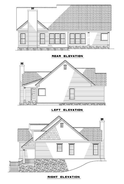 House Plan 62338 Rear Elevation