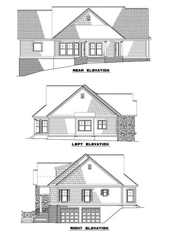 House Plan 62339 Rear Elevation