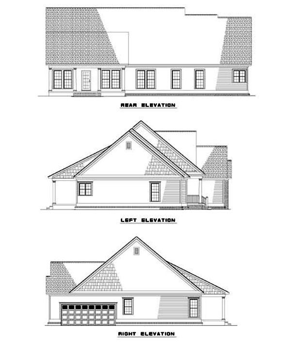 House Plan 62341 Rear Elevation