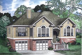 House Plan 62342 with 3 Beds, 2 Baths, 2 Car Garage Elevation