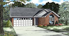 European Ranch House Plan 62343 Elevation