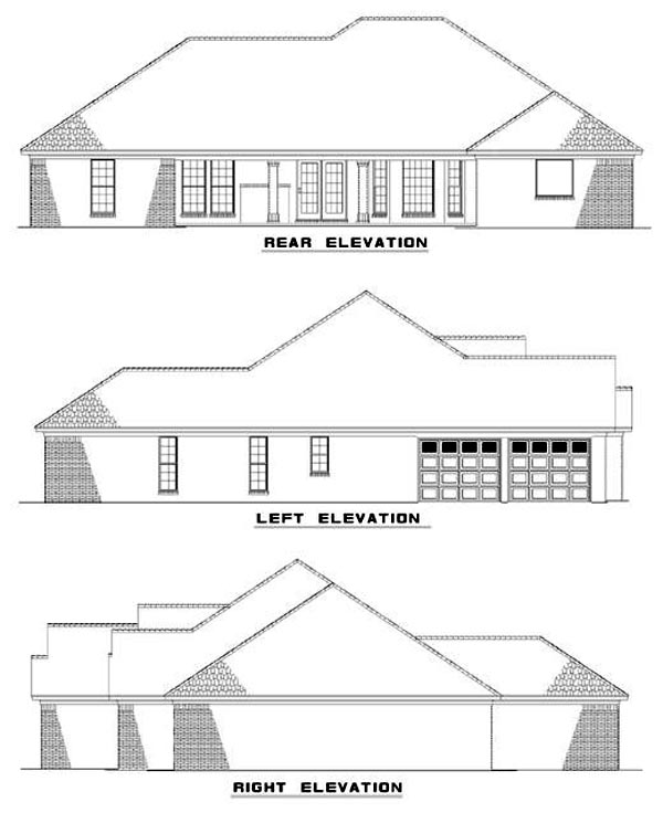 House Plan 62346 Rear Elevation