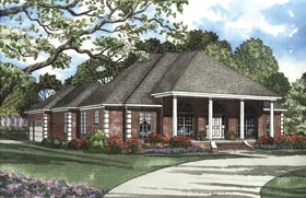 House Plan 62347 with 4 Beds, 3 Baths, 3 Car Garage Elevation