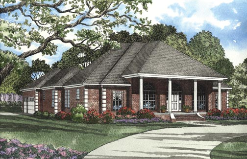 House Plan 62347 Elevation