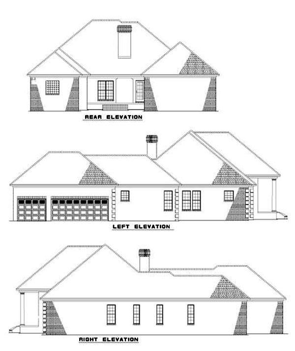 House Plan 62347 Rear Elevation