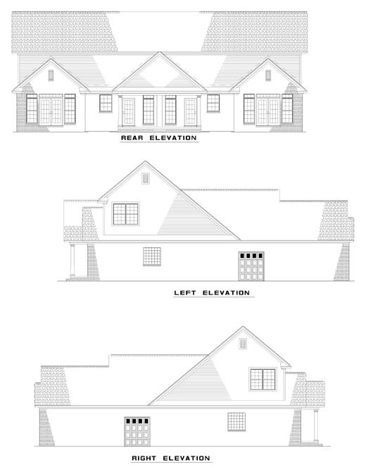 Multi-Family Plan 62348 Rear Elevation