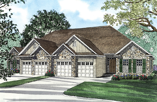 Multi-Family Plan 62349 with 6 Beds , 4 Baths , 4 Car Garage Elevation