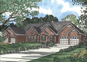 Multi-Family Plan 62351 Elevation