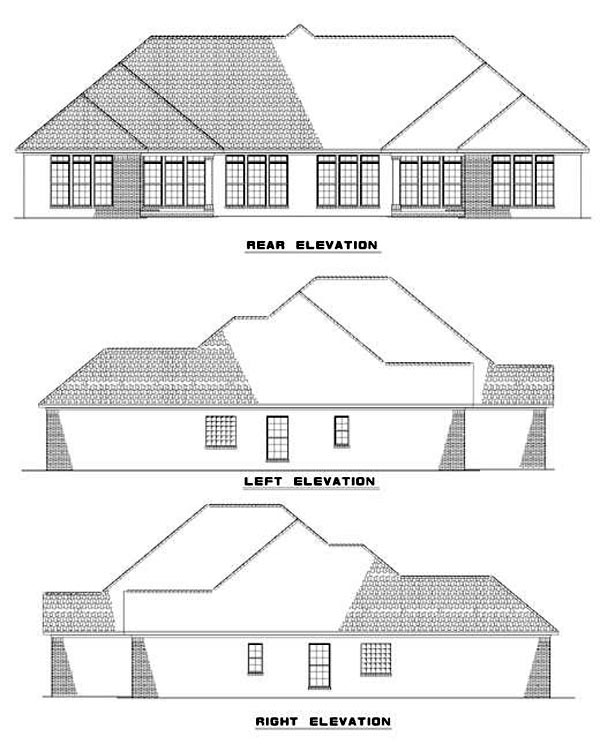 Multi-Family Plan 62353 Rear Elevation
