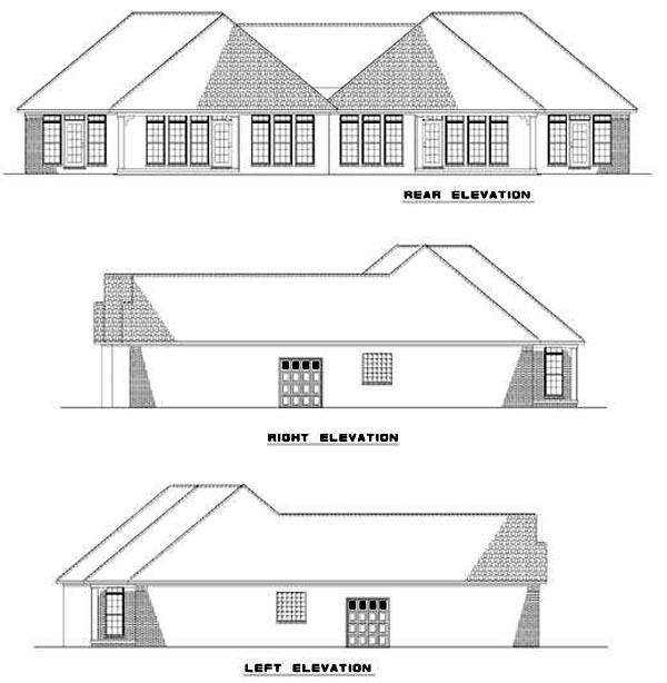 Multi-Family Plan 62354 Rear Elevation
