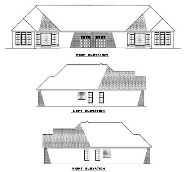 Multi-Family Plan 62356 Rear Elevation