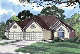 Multi-Family Plan 62364 with 6 Beds, 4 Baths, 4 Car Garage Elevation