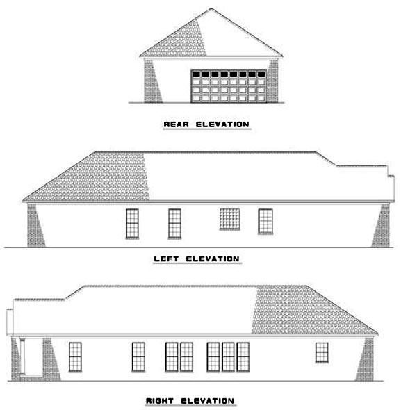 House Plan 62365 Rear Elevation