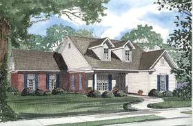 Ranch House Plan 62366 Elevation