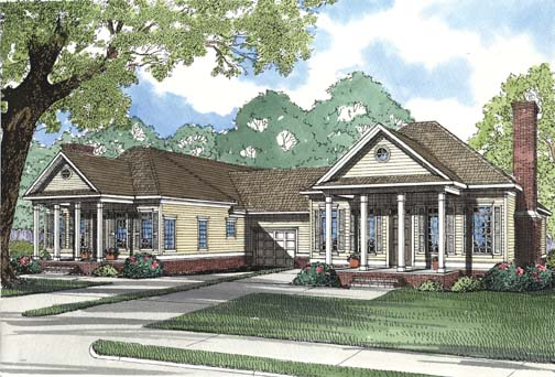 Multi-Family Plan 62372 Elevation