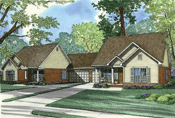 Multi-Family Plan 62373 Elevation
