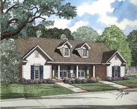 Multi-Family Plan 62379 | Style Plan with 1970 Sq Ft, 4 Bedrooms, 2 Bathrooms, 2 Car Garage Elevation