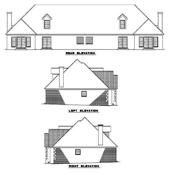 Multi-Family Plan 62380 Rear Elevation