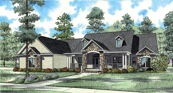 Country Southern Traditional House Plan 62383 Elevation