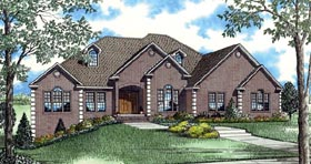 House Plan 62385 with 4 Beds, 5 Baths, 2 Car Garage Elevation