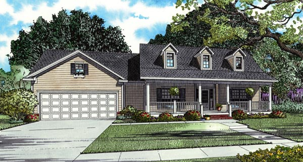 Country Ranch Southern House Plan 62388 Elevation