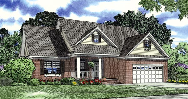 House Plan 62392 Elevation